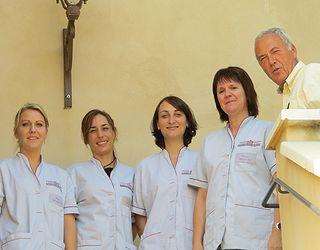 Les infirmières de la Résidence : Elodie, Laetitia, Sabrina et Véronique